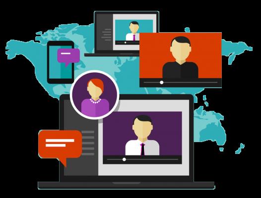 شرکت در وبینار و شبکه سازی
